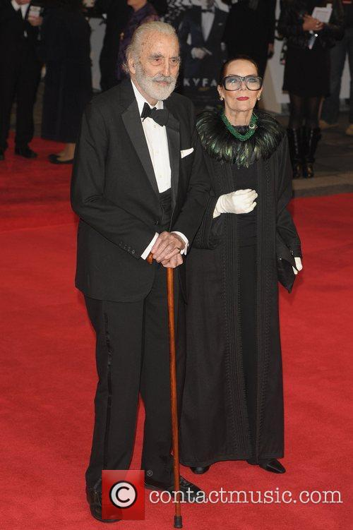 Christopher Lee, Birgit Kroencke and Royal Albert Hall 4
