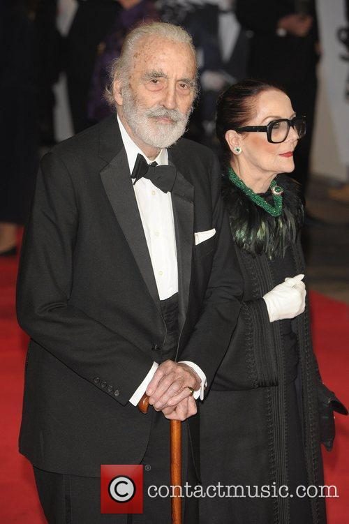 Christopher Lee, Birgit Kroencke and Royal Albert Hall 5