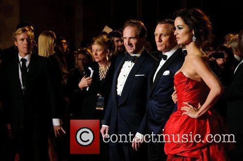 Ralph Fiennes, Daniel Craig and Berenice Marlohe 1