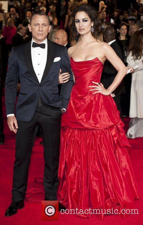 Daniel Craig, B, Marlohe Royal World Premiere, Skyfall, Royal Albert Hall, Arrivals. London, England