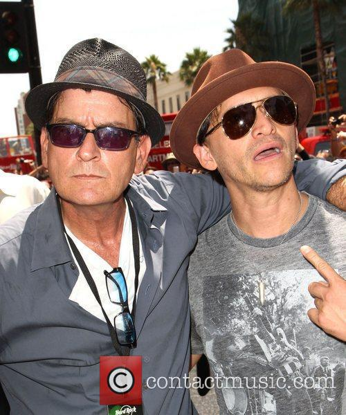 Charlie Sheen and Clifton Collins Jr. 5