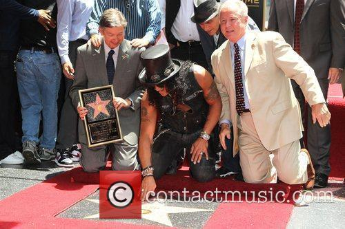 Robert Evans, Charlie Sheen, Jim Ladd and Slash 5