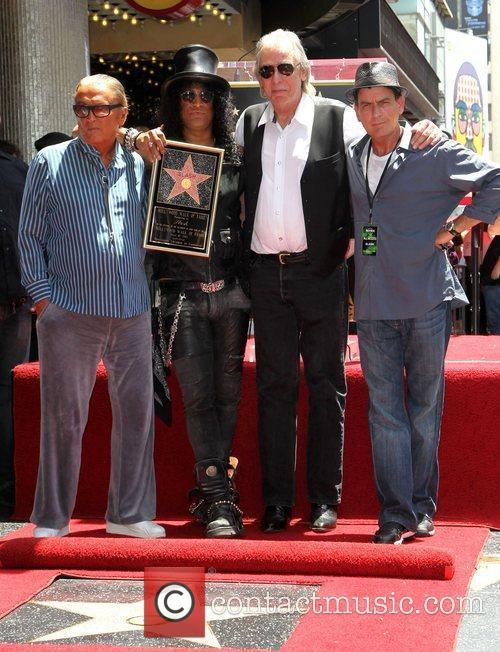 Robert Evans, Charlie Sheen, Jim Ladd and Slash 6
