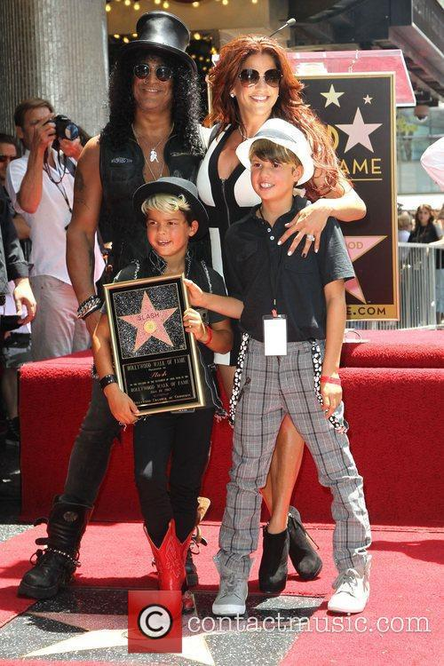 Slash, Emilio and Star On The Hollywood Walk Of Fame 3