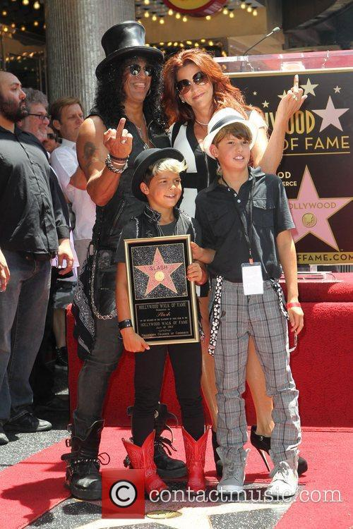 Slash, Emilio and Star On The Hollywood Walk Of Fame 4