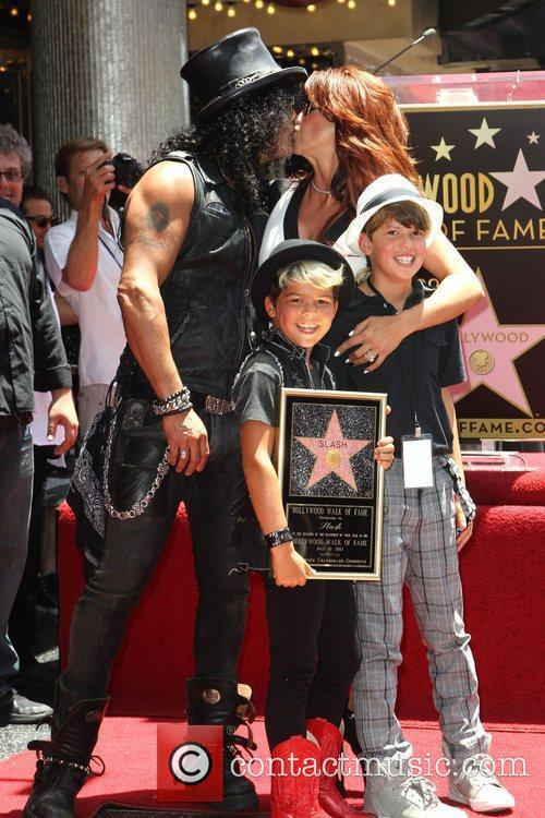 Slash, Emilio and Star On The Hollywood Walk Of Fame 5