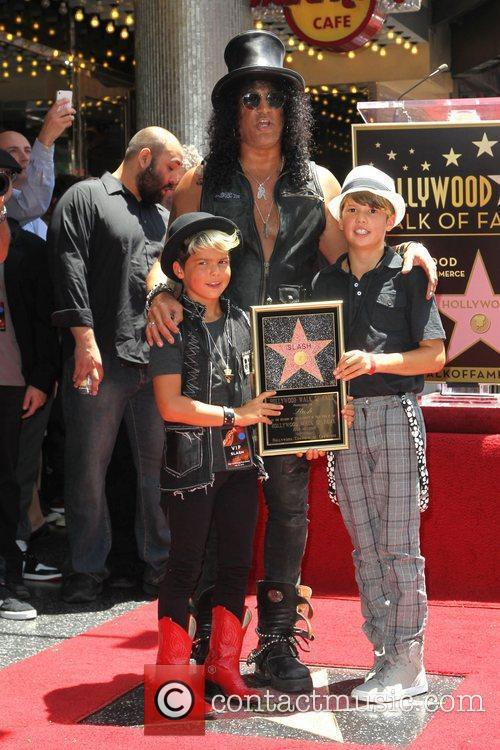 Slash, Emilio and Star On The Hollywood Walk Of Fame 6