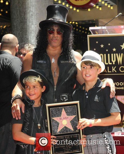 Slash, Emilio and Star On The Hollywood Walk Of Fame 7