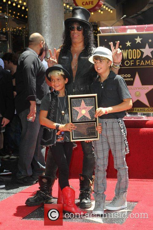 Slash, Emilio and Star On The Hollywood Walk Of Fame 8
