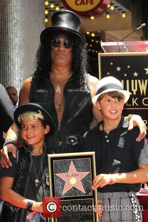Slash, Emilio and Star On The Hollywood Walk Of Fame 9