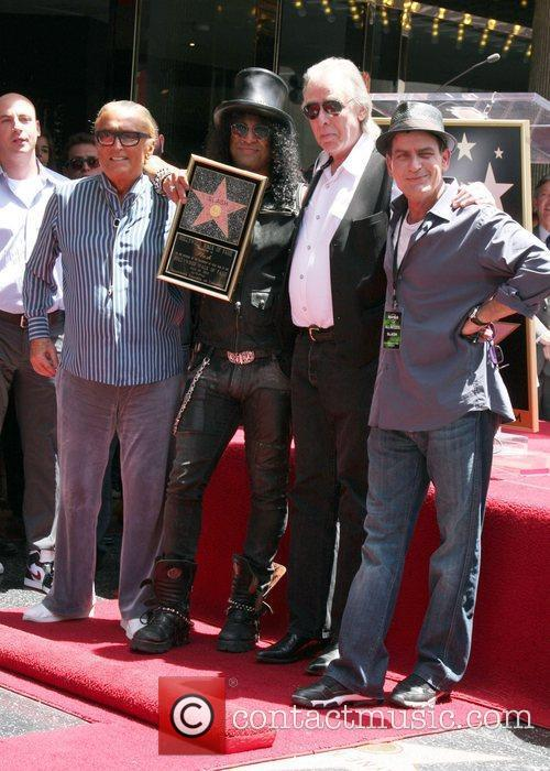 Robert Evans, Charlie Sheen, Jim Ladd and Slash 10