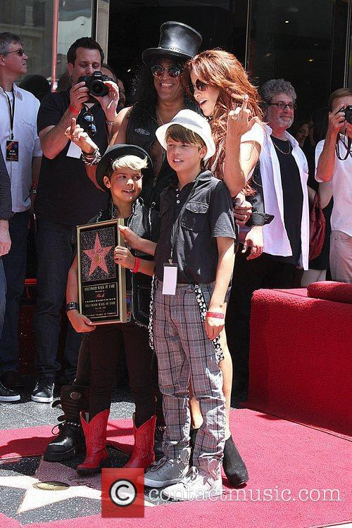 Slash, Emilio and Star On The Hollywood Walk Of Fame 1