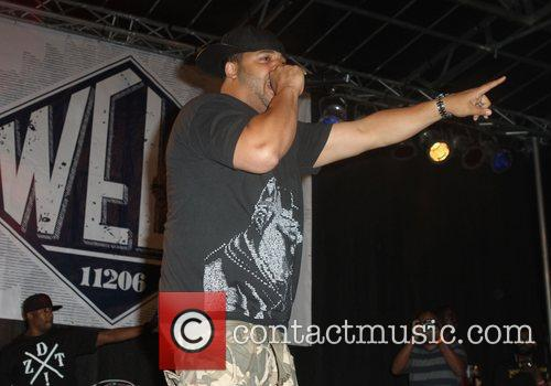 Joell Ortiz of Slaughterhouse Slaughterhouse and guests perform...
