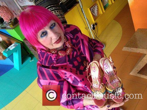 Zandra Rhodes  Small Steps Project: London Celebrity...