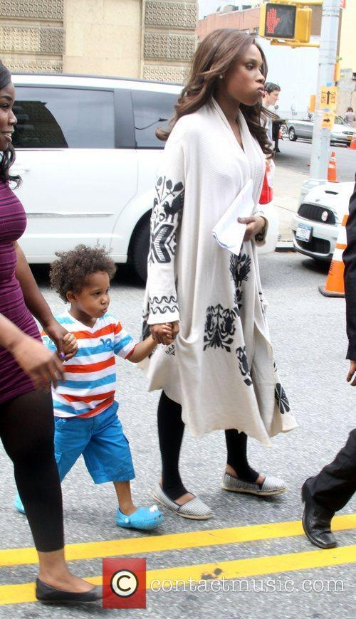 Jennifer Hudson with her son David on the...