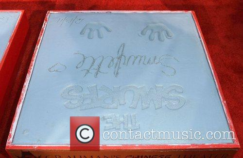 Atmosphere The Smurfs historic hand and footprint ceremony...