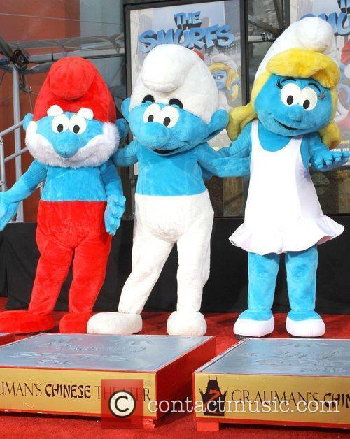 Papa Smurf, Clumsy Smurf, Smurfette The Smurfs historic...