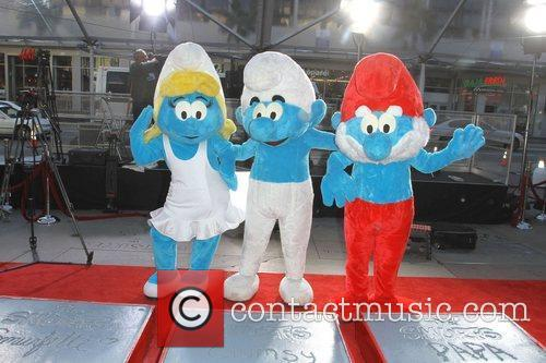 The Smurfs historic hand and footprint ceremony