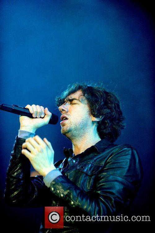 Snow Patrol performing on stage on the first...