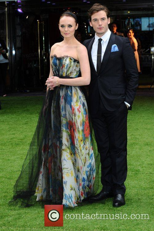 Laura Haddock and Sam Claflin 2