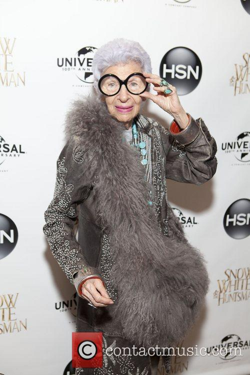 Iris Apfel HSN Universal cocktail reception for 'Snow...