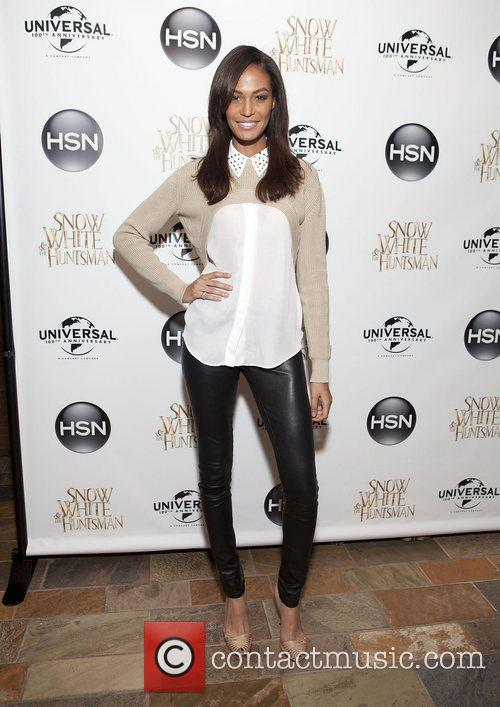 Joan Smalls HSN Universal cocktail reception for 'Snow...