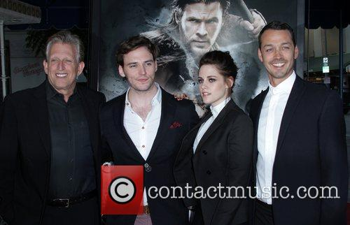 Joe Roth, Kristen Stewart and Sam Claflin 1
