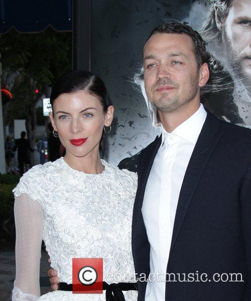 Rupert Sanders and Liberty Ross The industry screening...