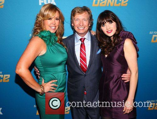 Mary Murphy, Nigel Lythgoe and Zooey Deschanel 2