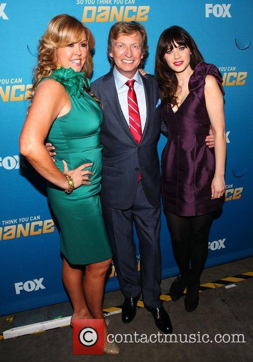 Mary Murphy, Nigel Lythgoe and Zooey Deschanel 1