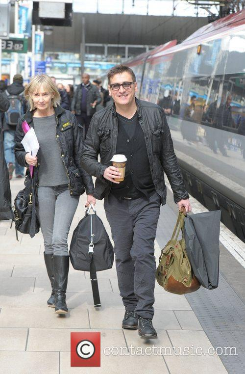 Chris Gascoyne boards a train at Manchester Piccadilly...
