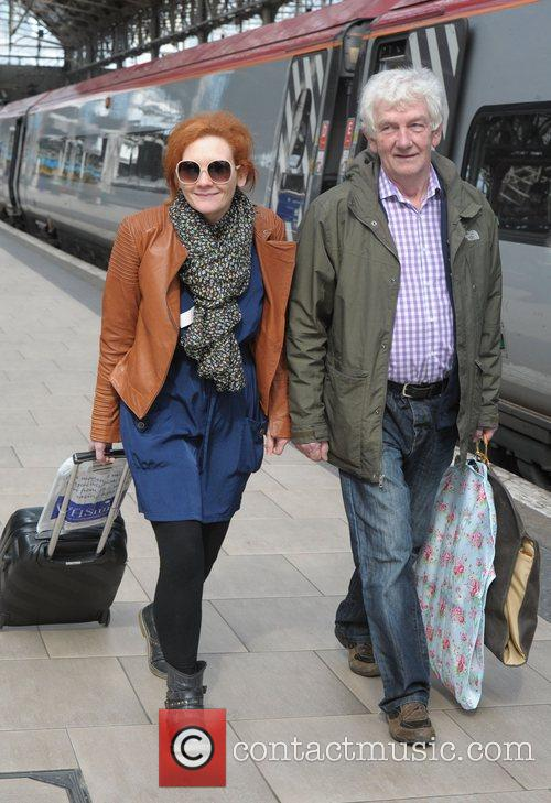 Jenny McAlpine and her father board a train...