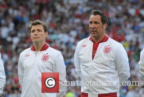 Ben Shephard and David Seaman  Soccer Aid...
