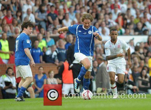 Gerard Butler and Aston Merrygold  Soccer Aid...