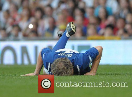 Gordon Ramsey injured  Soccer Aid 2012 in...
