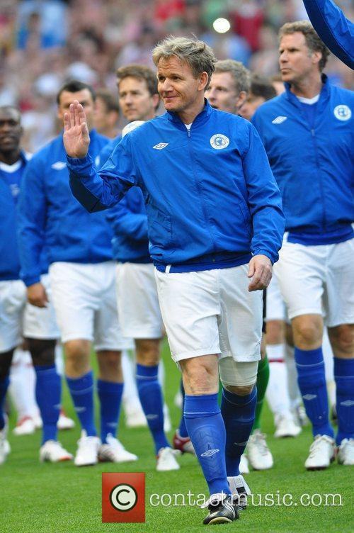 Gordon Ramsey  Soccer Aid 2012 in support...
