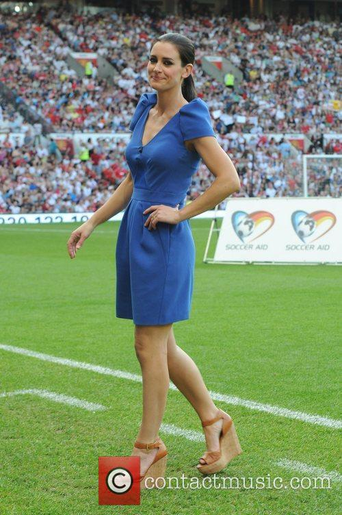 Kirsty Gallagher  Soccer Aid 2012 in support...