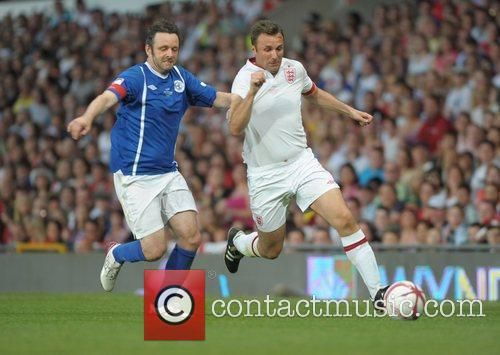 Michael Sheen and Jonathan Wilkes  Soccer Aid...