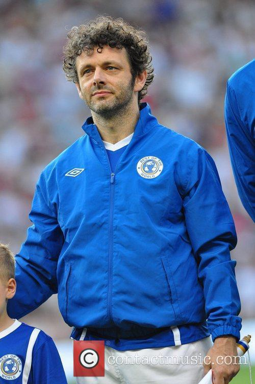 Michael Sheen  Soccer Aid 2012 in support...