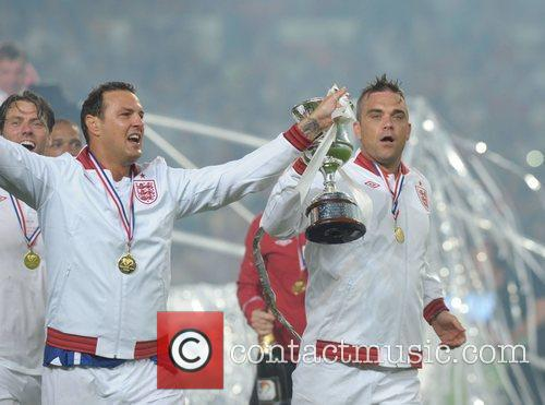 Paddy McGuiness and Robbie Williams  Soccer Aid...
