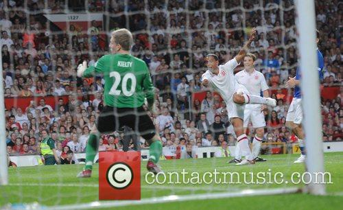 Patrick Kielty and Marvin Humes  Soccer Aid...