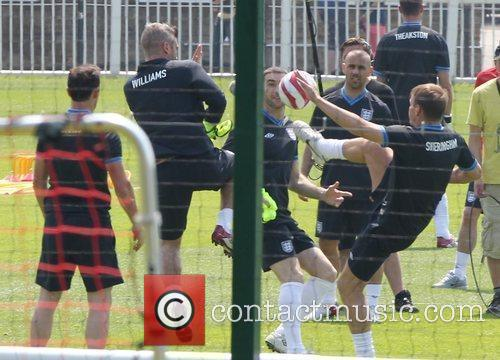 Teddy Sheringham Training for the Soccer Aid match...