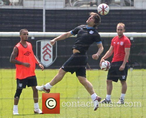 Aston Merrygold and John Bishop Celebrities training for...