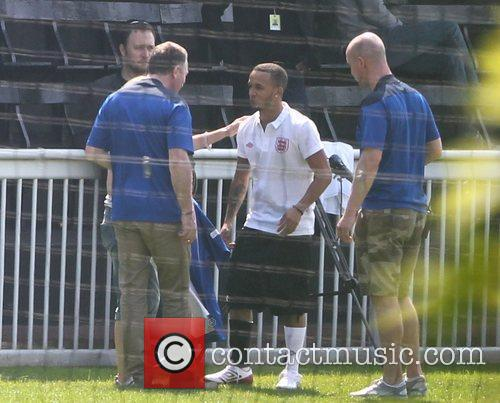 Training for the Soccer Aid match which will...