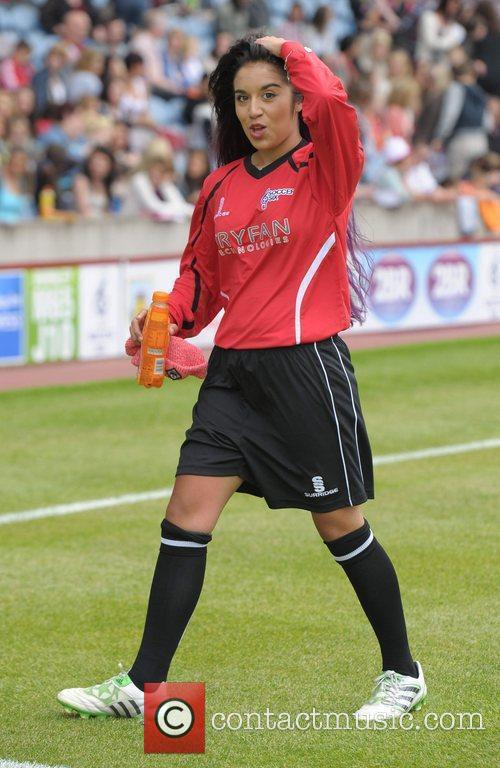 Chelsea Grimes  Celebrity Soccer Six - Burnley...