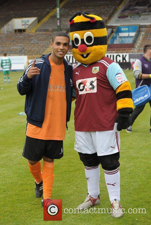 Lucien Laviscount Celebrity Soccer Six - Burnley at...