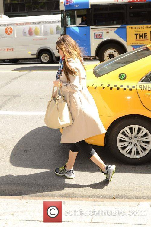 Sofia Vergara is seen leaving her hotel and...