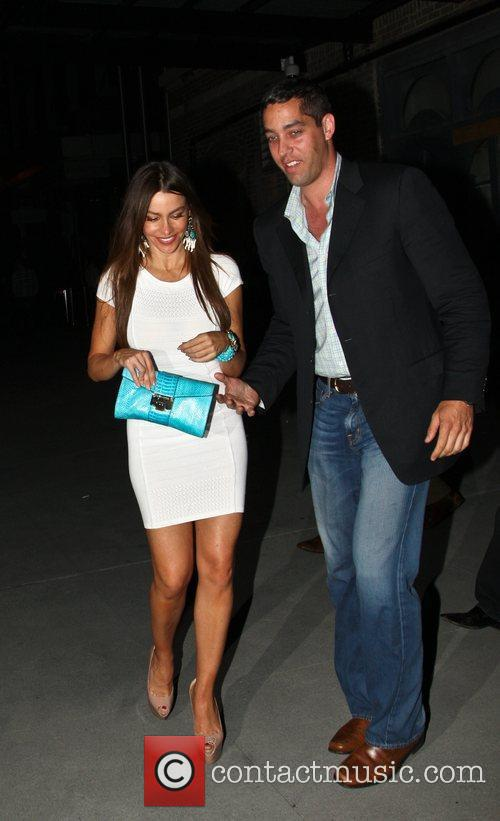 Sofia Vergara and Nick Loeb leaving the Bagatelle...
