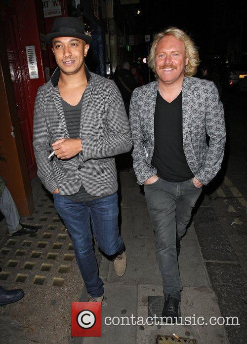 Jade Jones and Leigh Francis out and about...
