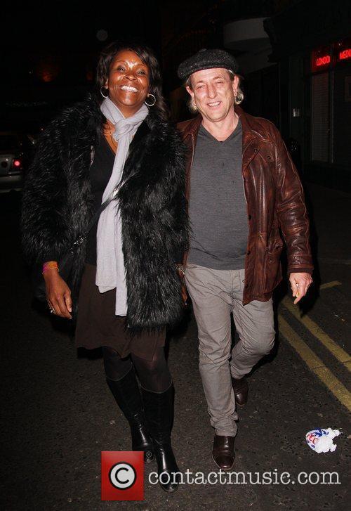 Celebrities outside the Soho Hotel in London